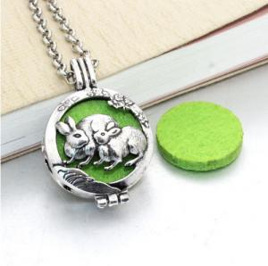 China Stainless Steel Aromatherapy Essential Oil Diffuser Locket Necklace on sale