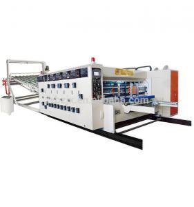 China Cardboard Paper Feeding Flexo Printing Slotting Die Cutting Machine on sale