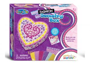 China DIY Sticky Jewelry Box Arts And Crafts Set W / Glitter Gems Beads Age Five on sale