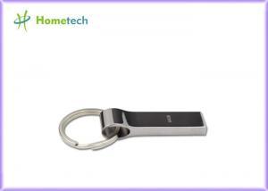 China Silver Metal Thumb Drives with key chain / custom printed usb drives on sale