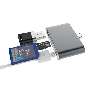 China Micro Type C SD Card Reader Multi - Functional For PC Laptop Macbook And Cellphone on sale