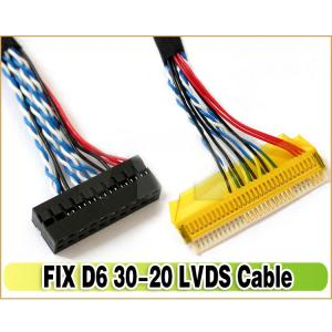 new FIX-S6 30Pin 2CH LVDS Cable for LCD LED monitor Controller Panel 6 Bits