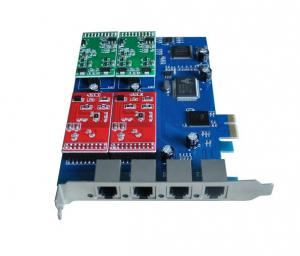 China VOIP telephony cards,4FXS/FXO Asterisk PCI-Express card,TDM400E.TDM400P on sale