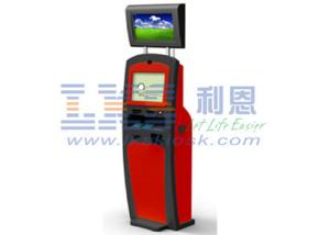 China Self Check-in Payment Dual Screen Kiosk With Cheque Scanner / Acceptor ID Scanner on sale