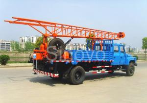 China Portable Mobile Core Drilling Equipment , Drill Depth 100m Truck Mounted Drilling Rig on sale