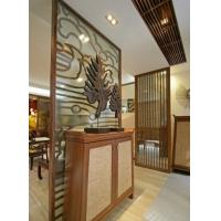 China Hotel , Restaurant Decorative Glass Partitions / Yellow Insulated Glazing Glass on sale