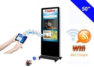 China Free Standing WiFi Digital Signage kiosk LCD Advertising Media Monitor on sale