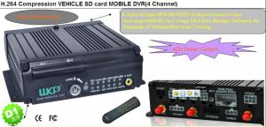 China 4CH SD Card mobile DVR WIFI 3G GPS support rear view camera with free CMS software on sale