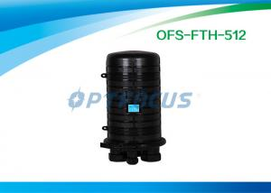 China 96 Cores Outdoor Fiber Optic Joint Enclosure Vertical / Dome 4 port on sale