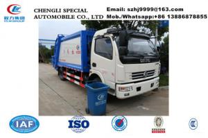 China China made Dongfeng 6-7m3 garbage compactor truck for sale, Factory sale lower  price Dongfeng compacted garbage truck on sale