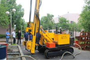China 300m Hydraulic Core Drilling Rig For DTH Mud Rotary Drilling on sale