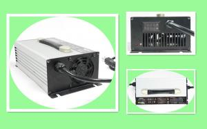 China ROHS 48 Volt Lead Acid Battery Charger Three Steps Charging Light Weight on sale