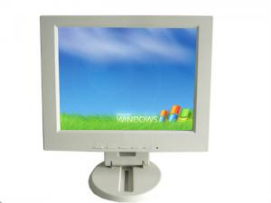 China White 12 VGA Color TFT LCD Monitor , 1024 * 768 Camera LCD Screen For Car on sale