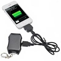 1200mAh mini keychian solar power bank for mobile phone with cheapest price and high quali