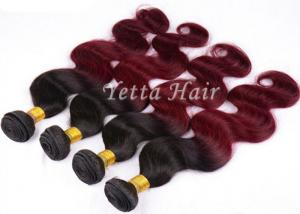 China Wine Red Hair Ombre Human Hair Extensions 12'' - 30''  Body Wave on sale