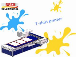 China Pigment Ink Flatbed T Shirt Printing Machine Multifunction A3 Size Digital Printer on sale