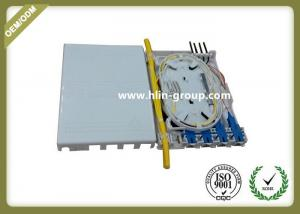 China Indoor FTTH Fiber Optic Terminal Box 4 Cores ABS Material Small Size Wall Mount on sale
