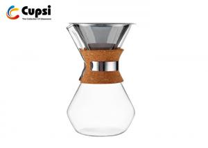 China 34Oz Classic Glass Coffee Pot With Stainless Steel Filter Good Looking High  Performance supplier