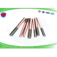 China Custom Length EDM Threading Electrodes M6 Tungsten Copper With 1 Mm Dia Hole on sale
