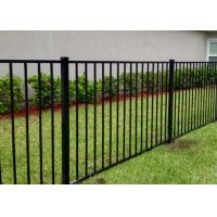 Residential Black Wrought Iron Fence Panels For Flat Top 1000mm - 2400mm Length