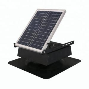 China 20w Small Solar Powered Vent Fan Fresh Air Auto Cool For Keep Houses Dry on sale