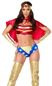China Sultry Strength Sexy Superhero Costume Wholesale with Size S to XXL Available on sale