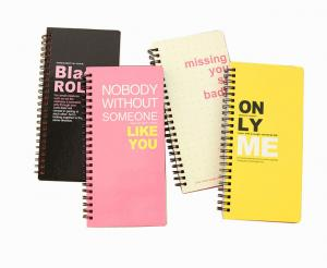 China Hard Cover Spiral Notebook with Custom Printing on sale