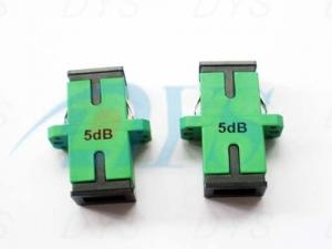 China Duplex Green Fiber Optic Attenuator Bulkhead Type SC /APC With High Power Endurance on sale