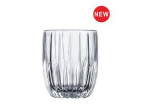 China Flower Whiskey Glass Cups , Whiskey Drinking Glass Popular In Bar / Glassware on sale