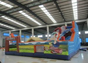 China Colourful Digital Printing Toddler Bounce House , Geological Park Bounce Round Bounce House on sale