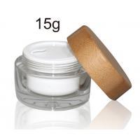 ECO - Friendly Bamboo Cosmetic Glass Bottles Packaging Wooden 5G 50G Custom Logo
