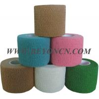China Hand Tear Self - adhesive Cotton Elastic Bandage To Control Varicose Veins on sale