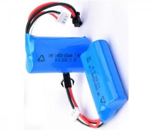 China 14500 Rechargeable Battery Pack 7.4V 650mah For LED Torch / Mini Speaker , Blue Color Wrap on sale