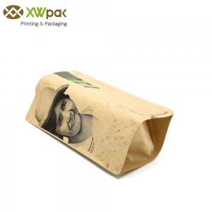 China Custom Ziplock Kraft Paper Packaging Bags Food Bag Pouch Resealable For Coffee Tea on sale