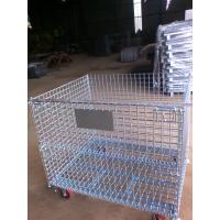 Stackable Wire Mesh Container,Storage Cage, Warehouse galvanized wire mesh container