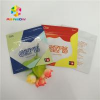 China Three Side Sealed Printed Plastic Bags Gummy Candy Packaging Customized With Ziplock on sale