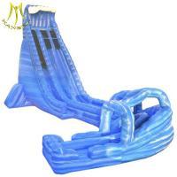 Hansel   popular amusement park kids outdoor playground inflatable kids slip slide supplier