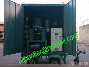China Planta de filtro móvel do óleo do transformador, purificador de óleo movente do transformador do vácuo do reboque on sale