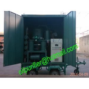 China Planta de filtrado móvil de aceite del transformador, purificador de aceite móvil del transformador del vacío del remolque on sale