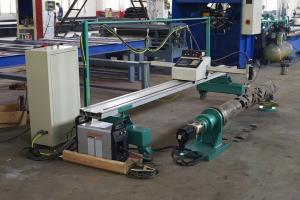 China 2500mm Light Pole Machine , CNC Plasma Light Pole Door Cutting Machine on sale