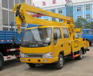 China JAC brand 14m-16m hydraulic bucket truck for sale, best price JAC brand 16m overhead working platform truck for sale on sale