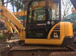 Used Komatsu PC56 Crawler Excavator 4D102E engine 6T weight  with Original Paint
