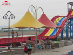 China Colorful Roof Fabric  Temporary Tensile Structures / Outdoor Shade Structures on sale