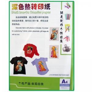 China Metallic inkjet heat transfer paper HTW-300 on sale