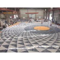 China Decorative Marble Floor Medallions Border Designs Customized Shape On Sale