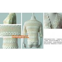 China New Sweet Thin, Sweater Tops, Girls Bat short Sleeve, Crochet Cardigans Fall Plain Pattern on sale