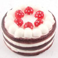 PU Foam Squishy Toys Simulate Strawberry Cake Slow Rising Squishy Toys