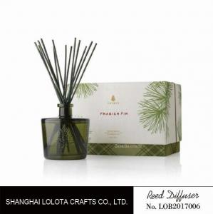 China Blackish green color bottle with natural stick and rigid gift box on sale