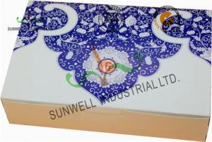 China Both Sides Printing Cardboard Food Packaging Boxes , Mooncake Display Packaging Box on sale