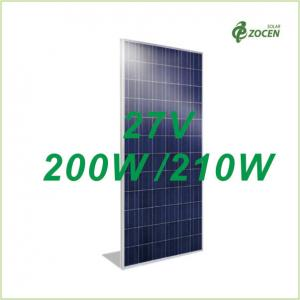 China 27V Polycrystalline Photovoltaic Solar Module 200W 205W 210W Made By 6 Inch Cells on sale